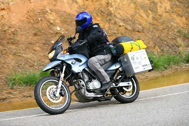 Bryan Cady riding the Tail of the Dragon on his BMW F650gs