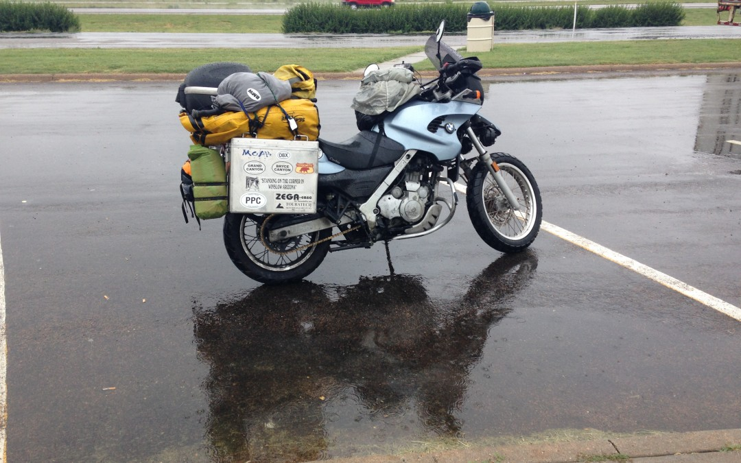 Motorcycling Toward Denver in the Rain